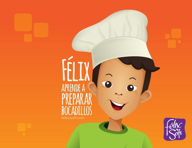Félix aprende a preparar algunos bocadillos