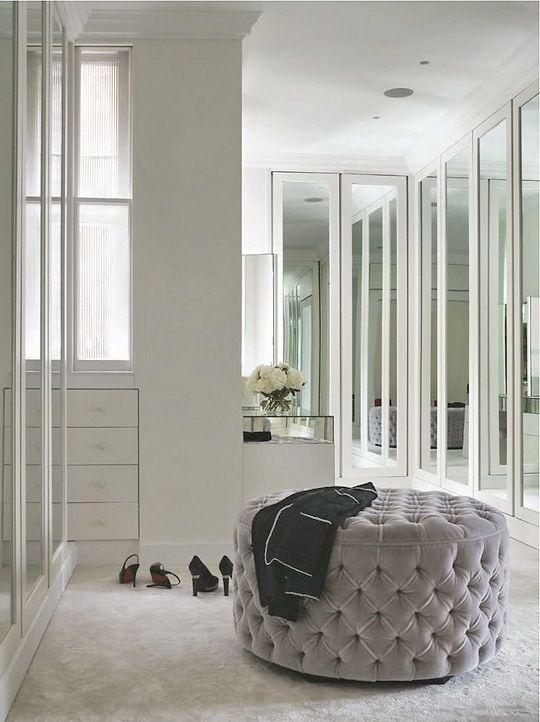 Velvet ottoman #elegantdressingroom