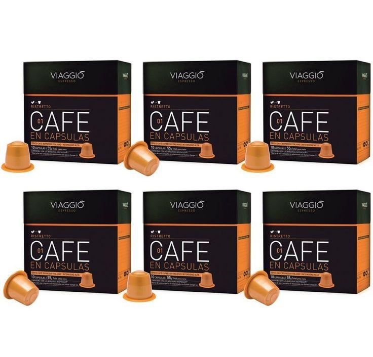 Superisparmio's Post Capsule Nespresso  Viaggio Espresso Caffe Compatibili con Macchina Nespresso Ristretto - 1 Pacco da 60 Capsule  A solo 9.23   http://amzn.to/2lkV3m3