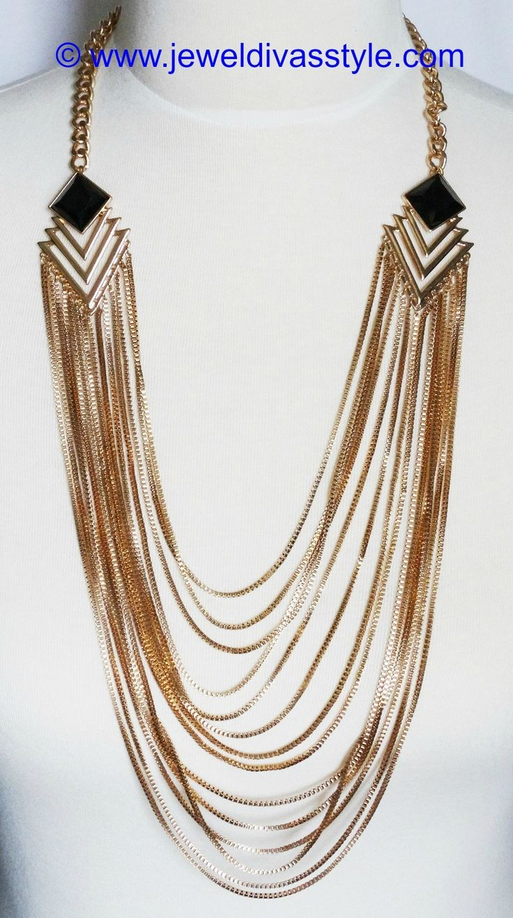 JDS - BLACK DIAMOND NECKLACE - http://jeweldivasstyle.com/my-personal-collection-new-gold-and-gold-multi-jewels/