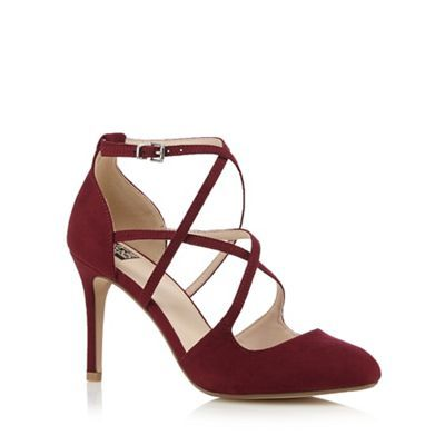 The Collection Dark red strappy high court shoes | Debenhams