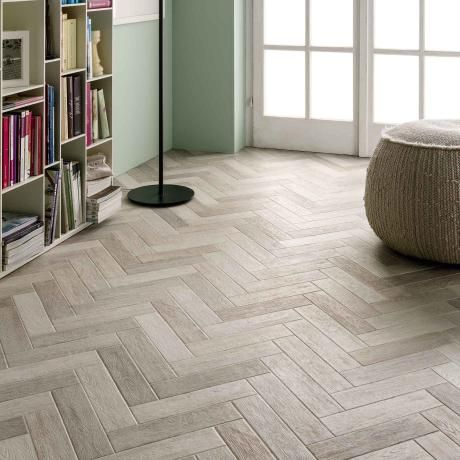 French Parquet Blanc Tile - We know that it isn't always easy to pick the right tiles for your home. That's why we provide a samples service, giving you the chance to assess your chosen tile and if you're still unsure you can contact our expert team who will help you to make the right decision for your home. Create your dream home with Tileflair! #KitchenTiles #BathroomTiles #FloorTiles #PorcelainTiles #WallTiles #FrenchParquetTiles #WoodEffectTiles #ConservatoryTiles #SampleTiles