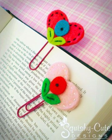 Heart bookmarks http://www.retailmenot.com/blog/kid-friendly-back-to-school-crafts.html