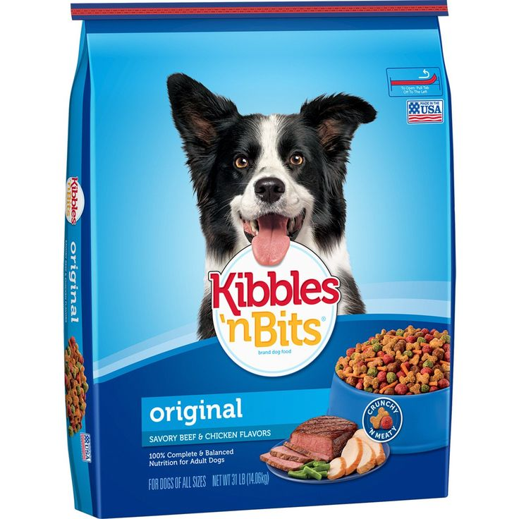 Kibbles 'N Bits Original Dry Dog Food Original Savory Beef