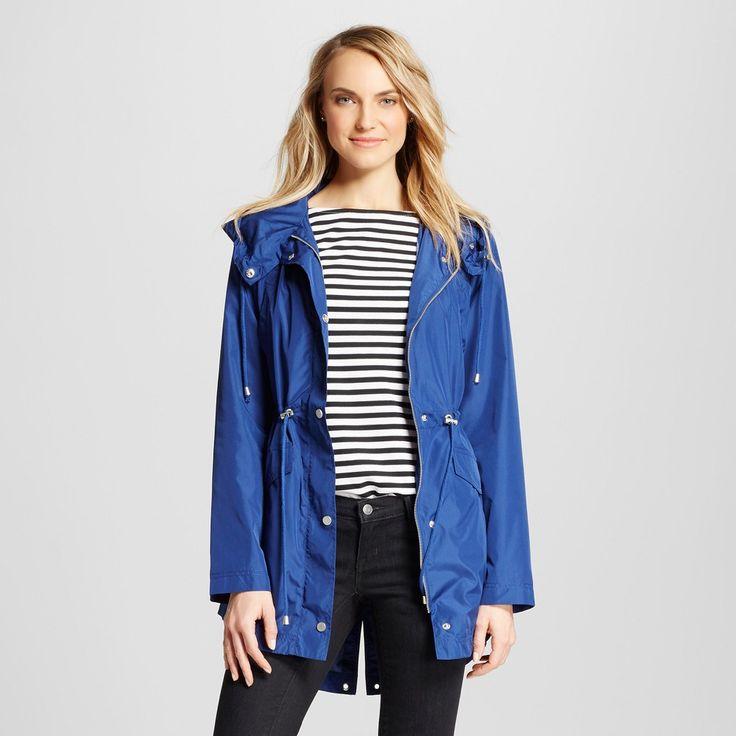 Women's Rain Coat Dark Blue L - Merona