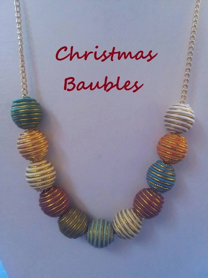 Handmade by Gayle M Designs Christmas Bauble Necklace (3 Available)