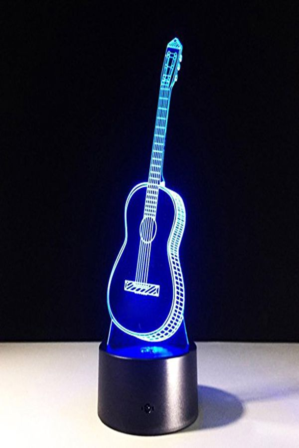 Guitar Led Night Light Color Changing With Touch Switch Staron Usb Led Night Lamp 3d Ukulele Guitar Christmas Gift Led Night Light Night Light Led Night Lamp