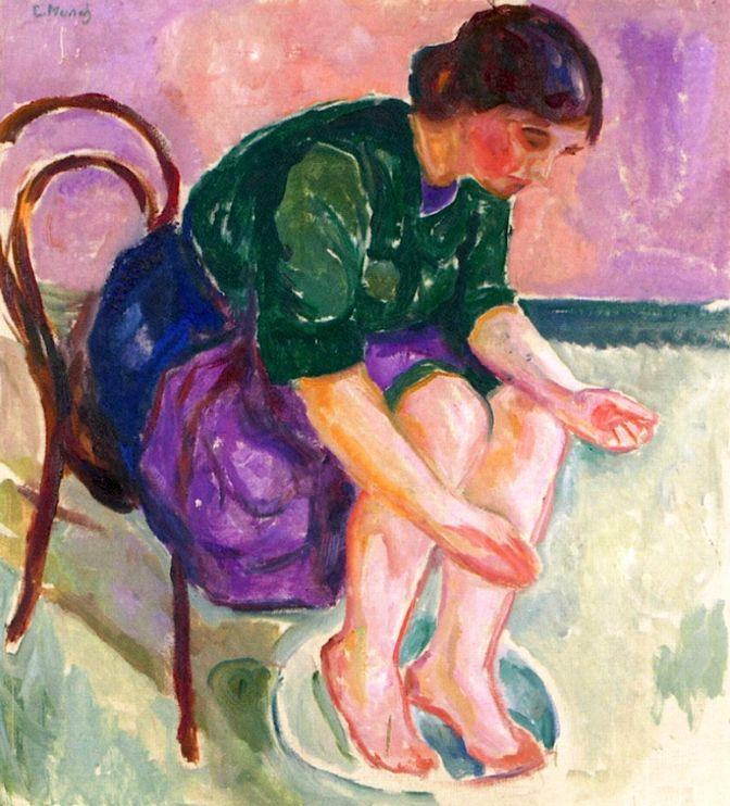 Baño de pies, 1912-1913 - Edvard Munch