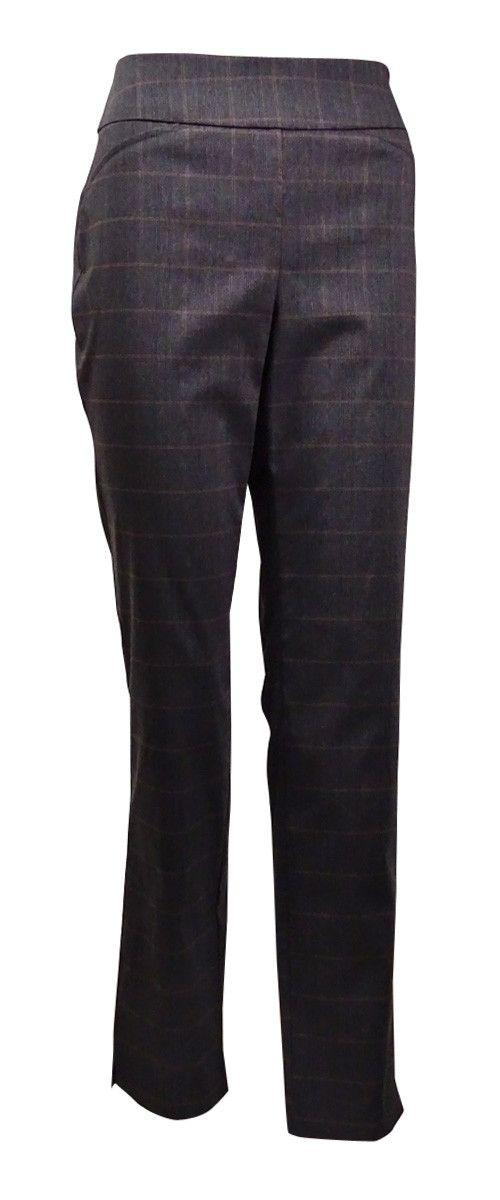 Charter Club Women's Plaid Cambridge Slim Trousers