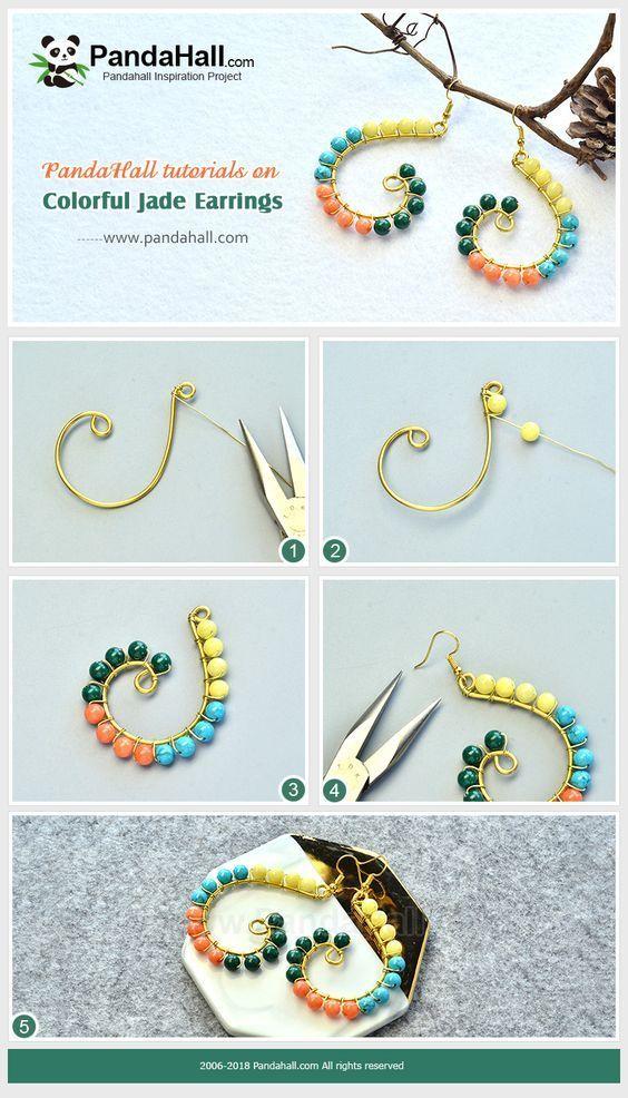 da8a0ef212ef   ARETES  Tutorial de Bisutería Paso a Paso!. .  ideas  handmade  jewelry   earrings  DIY  crafts  wirejewelry  aretes  zarcillos  bisuteria   hechoamano