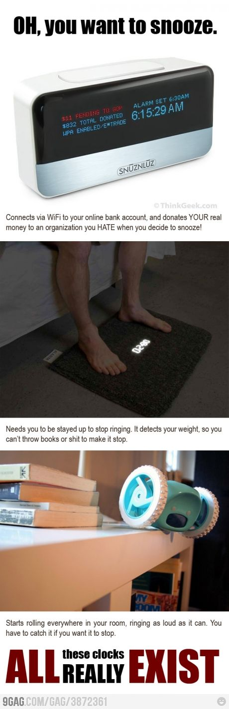 I think I need one of these. . . I hit snooze WAY too much and it just keeps getting worse!