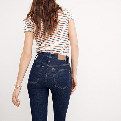 Short Curvy High-Rise Skinny Jeans in Lucille Wash