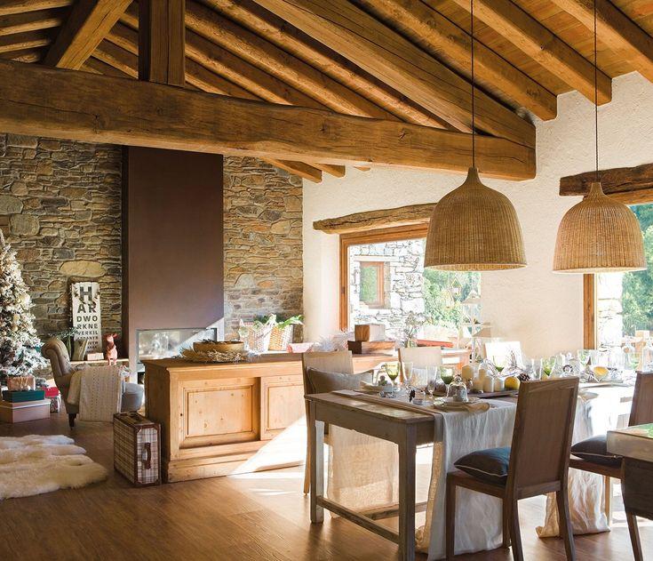 Una casa de navidad con esp ritu n rdico for Ideas para techos interiores