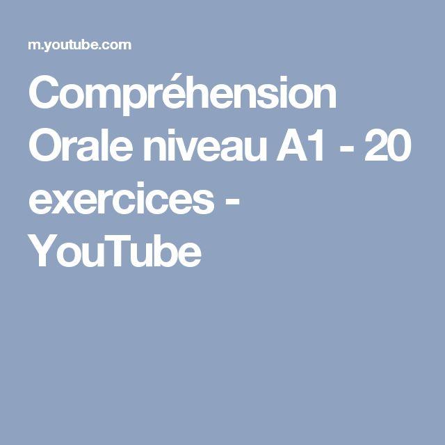 Compréhension Orale  niveau A1 - 20 exercices - YouTube
