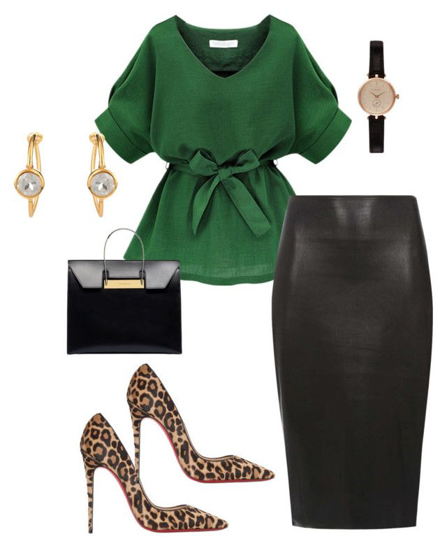 """""""Untitled #298"""" by essiekuda ❤ liked on Polyvore featuring Dorothy Perkins, Christian Louboutin, Balenciaga and Barbour"""