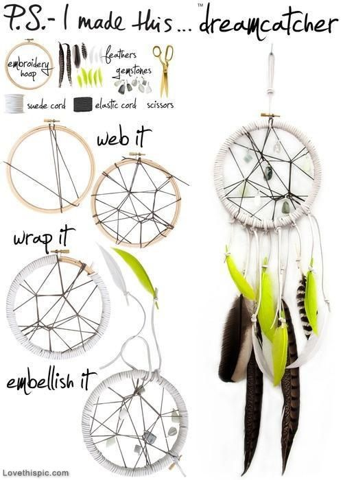 ***Love This Pic*** Décor Make your own decorative dream catcher! Sweet dreams everyone