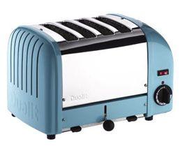 Dualit pastel blue four slice toaster