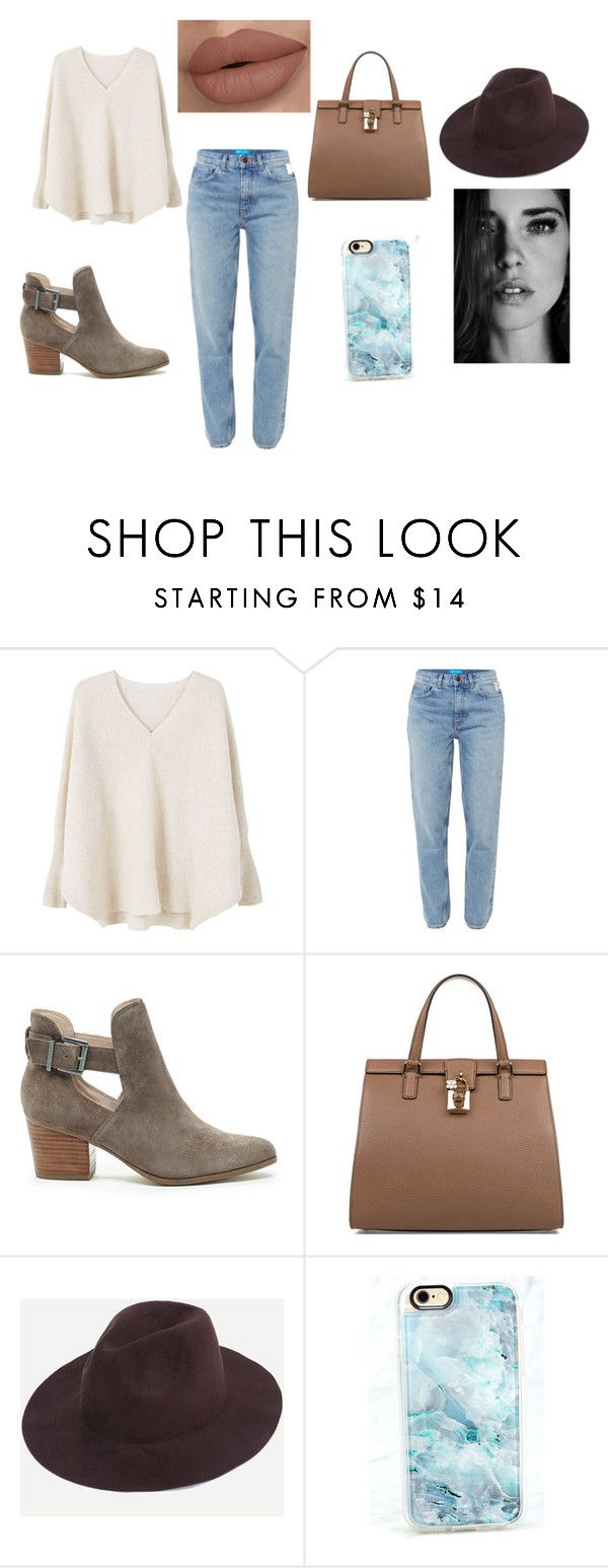 """""""Sacramento"""" by catarinajorge on Polyvore featuring MANGO, M.i.h Jeans, Sole Society, Dolce&Gabbana and Casetify"""