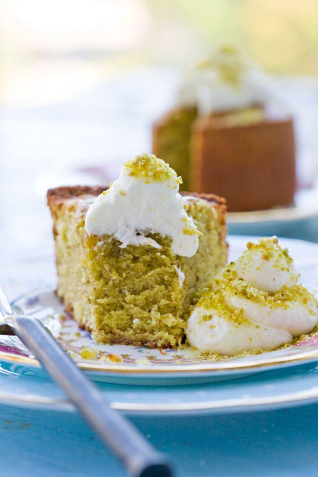 Pistachio Cake by tartineandapronstrings #Cake #Pistachio #tartineandapronstrings