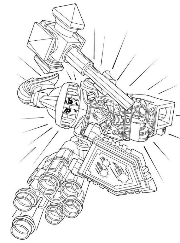 lego nexo knights ausmalen 01 | lego coloring pages