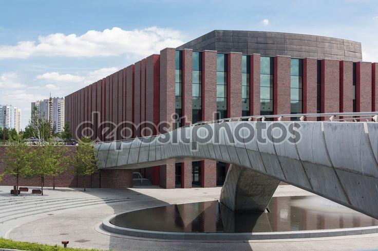 Budynek Narodowego Polskiego Radia orkiestry symfonicznej w Katowice, Polska — Obraz stockowy #118971786