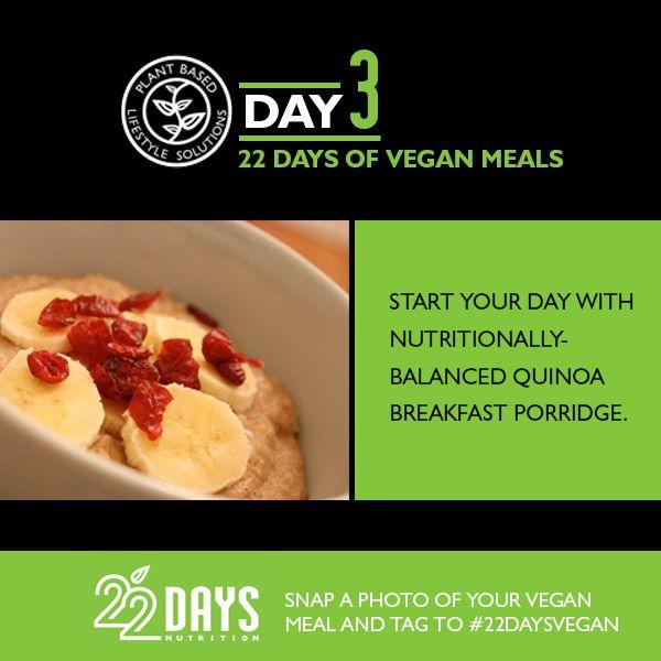 DAY 3 Quinoa Porridge, Salad w/Pumplin Seeds, Sweet Potato w/Black Beans, Energy Bites.