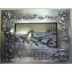 Ons is lief vir oupa - Pewter Art Picture Frame - Handcrafted by Hanli Barnard for R150.00