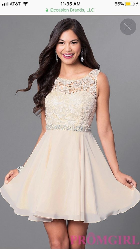 ca7d3928d36 Promgirl-homecoming graduation Short Champagne Ivory Semi-Formal Dress   fashion  clothing  shoes  accessories  womensclothing  dresses  ad (ebay  link)
