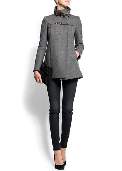 Double strap grey jacket