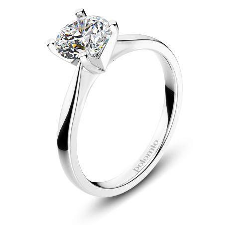 ZÁSNUBNÍ PRSTEN MALAGA Polomio Jewellery. Nic  víc než třpytivá krása kamene. Jako hlavní ozdoba prstenu, je usazen do čtyř krapen tak, aby k němu mělo světlo přístup ze všech stran a rozsvítilo jeho brilanci. Zásnubní prsten je možné obědnat v červené, růžové, bílé a žluté barvě zlata. Zásnubní prsteny jsou osazeny zirkony, brilianty, nebo moisanity.