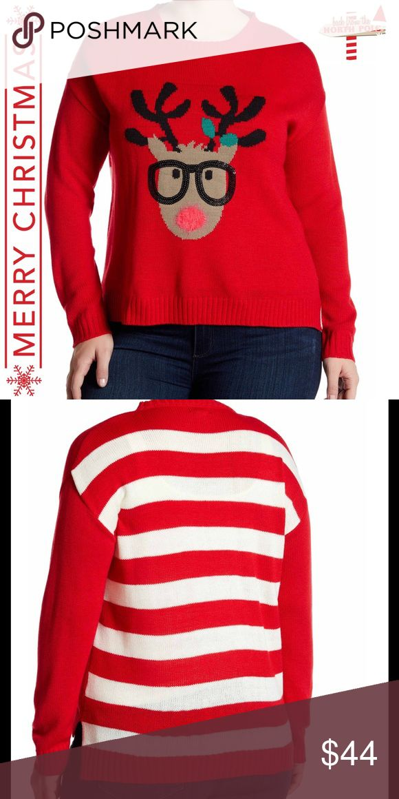 NWT Reindeer Crew Neck Sweater Who doesn't love a reindeer in glasses?!  😍😍😍 Cotton Emporium Sweaters