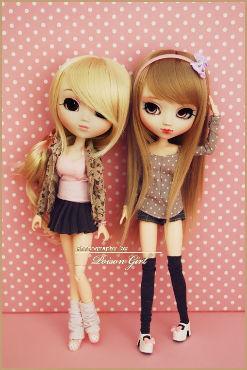 Miso & Hanabi - Pullip Hello Kitty & Custom | Cute dolls ...