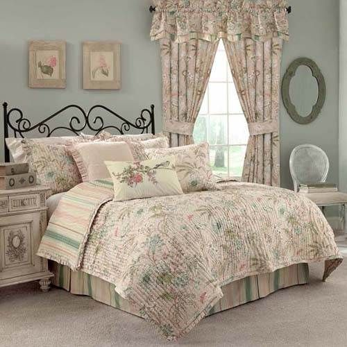 Waverly Cape Coral Bedding - Floral By Waverly Bedding, Bed Sets, Comforters, Duvets, Bedspreads, Quilts