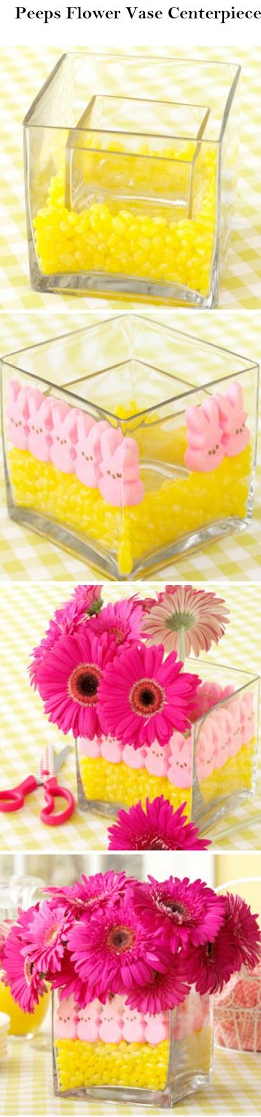 Crafts and DIY Community: Peeps Flower Vase Centerpiece | Crafts and DIY Community