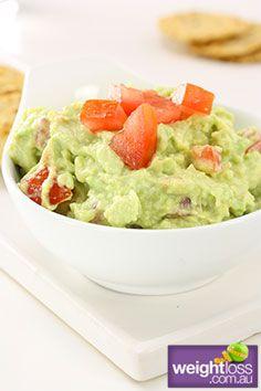 Healthy Entertaining Recipes: Healthy Guacamole. #HealthyRecipes #DietRecipes #WeightlossRecipes weightloss.com.au