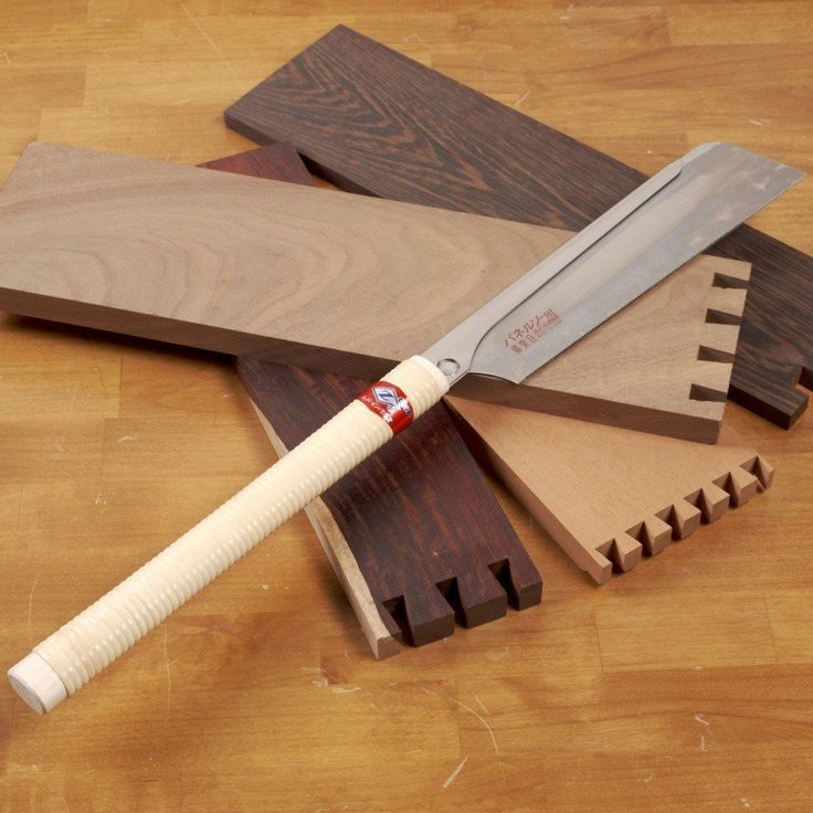 """This Japanese handsaw is used for cutting dovetails for boxes, drawers, or furniture. Features metal backbone to help keep the blade stiff. Blade has 25 TPI, a 9-1/2"""" cutting edge and is 0.3mm thick."""