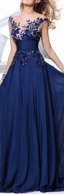 Love the dark blue against pale skin Tarik Ediz 2013 Royal blue