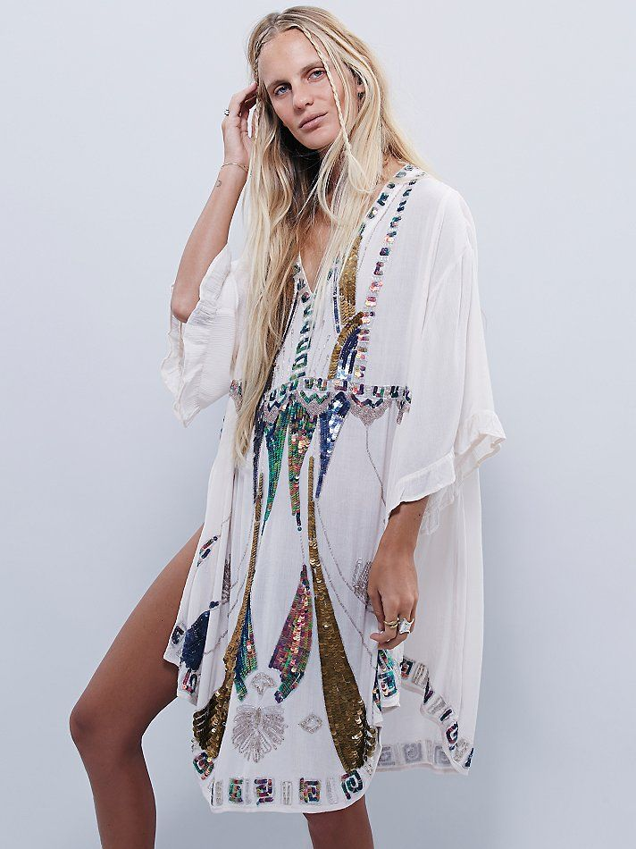 Free People Wild Heart Sequin Kaftan at Free People Clothing Boutique