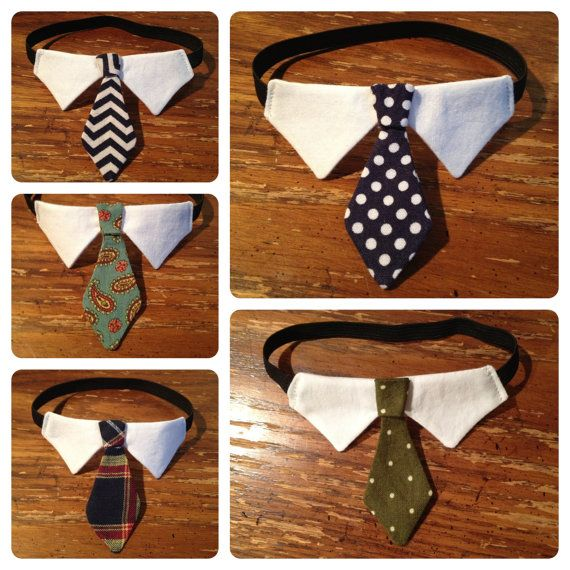 Classic Tie Cat Collar // Cat Formal Wear by ChariotsAfire on Etsy, $15.00