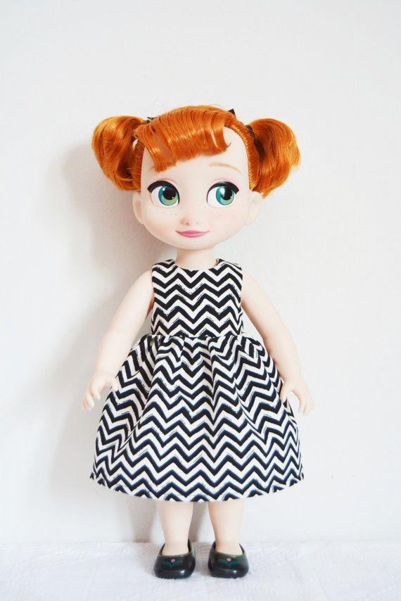 Handgemaakte pop kleren jurk past Disney door LittlewestCraftShop