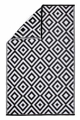 Outdoor-Teppich schwarz/weiß