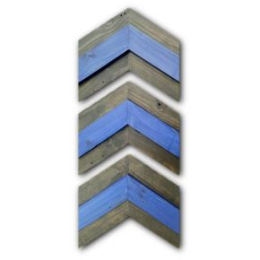 Thin Blue Line Chevron Wall Decor Arrows Exclusively by Streetwood Design