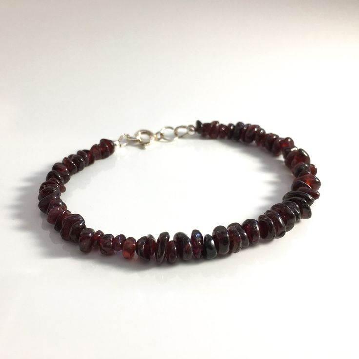 Garnet heals an injured spirit, boosting confidence while relieving emotional upset.    This bracelet was made with the intention of grounding the wearer in love and compassion.  Garnet can help you find your way through a difficult time.  Avoid wearing Garnet for weeks at a time, it is powerful en