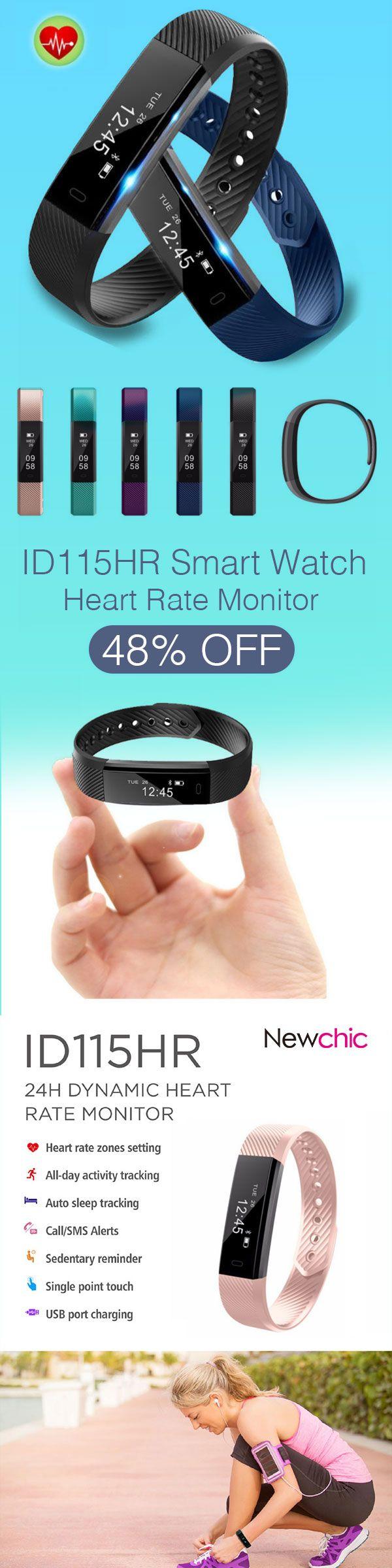 [Newchic Online Shopping] 48%OFF ID115HR Smart Watch | Heart Rate Monitor | Fitness Tracket | Wrist Watch | Fitness Tracker | Sleep Tracker