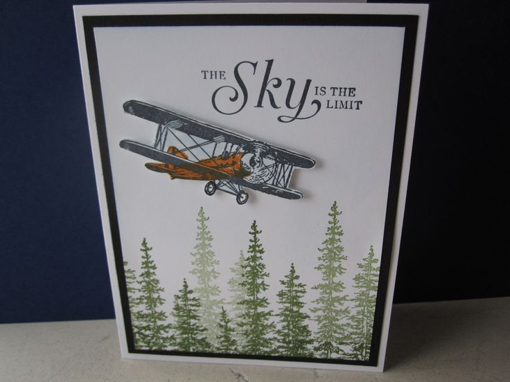This is a great card for Graduation, birthday, or Fathers' Day. Sky is the Limit stamp set from Stampin' Up! Card made by Debbie Reed