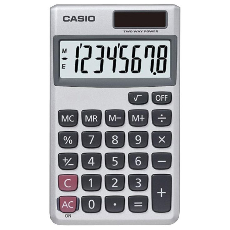 CASIO SL300VE-SL300SV Wallet Solar Calculator with 8-Digit Display