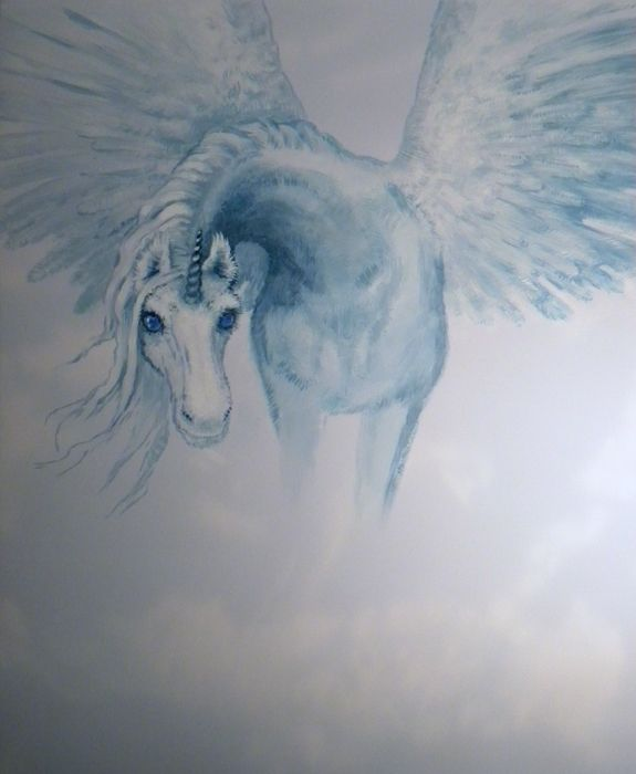 unicorn - alicorn wall painting