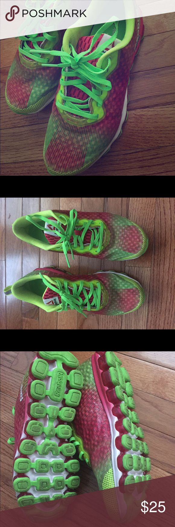 Reebok Women Z Jet Thunder Running sneakers Reebok Women Z Jet Thunder Running Shoes - Yellow / Pink / Green / White Reebok Shoes Sneakers