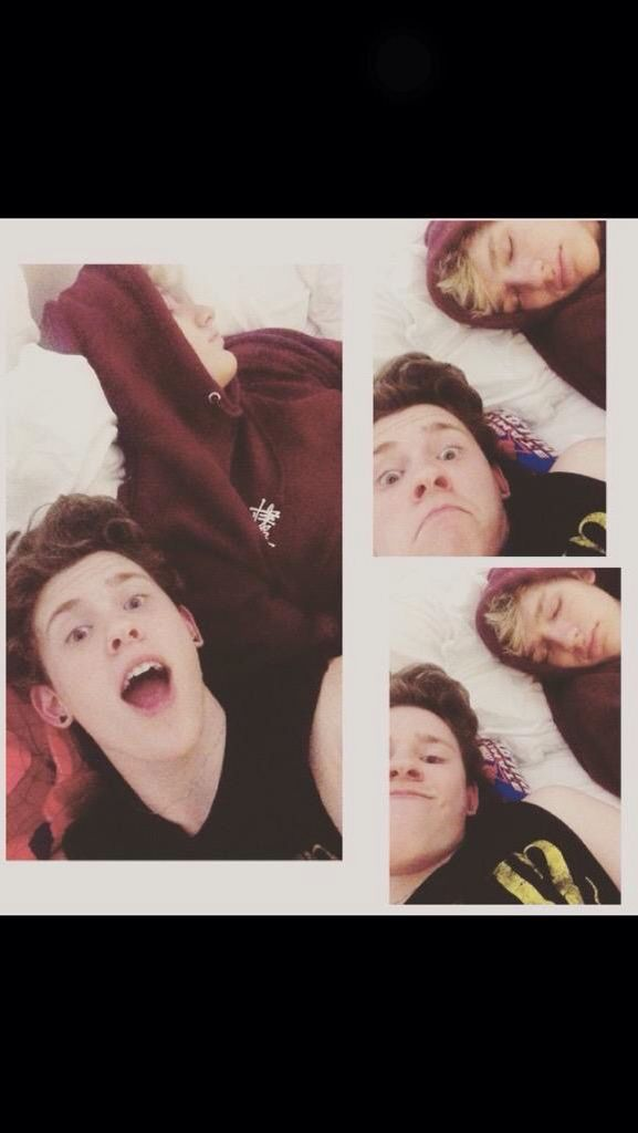 When bae falls asleep :D Levi and Drew