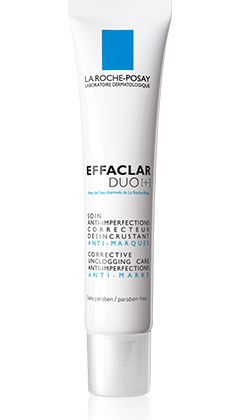 All about EFFACLAR DUO[+] Corrective unclogging care anti-imperfections, anti-marks., a product in the Effaclar range by La Roche-Posay recommended for Oily skin with imperfections. Free expert advice